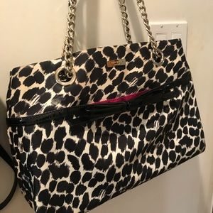 Leopard tote with bow